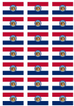 Missouri Flag Stickers - 21 per sheet